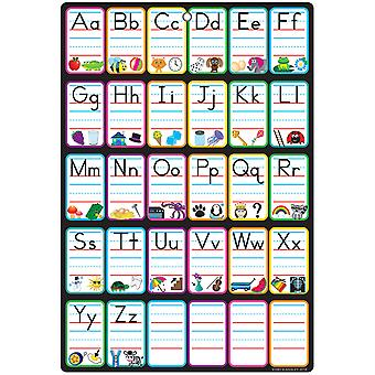 """Smart Poly Chart, 13"""" X 19"""", Abc Pictures, W/Grommet"""