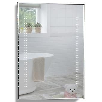 MOOD Rectangular Bathroom Mirror 80 x 60cm Illuminated