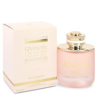 Quatre En Rose Florale Eau De Parfum Spray By Boucheron 3.3 oz Eau De Parfum Spray