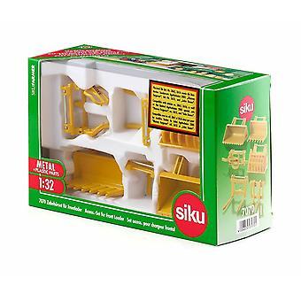 Siku accessories for front loader 7070 series 1:32 diecast set