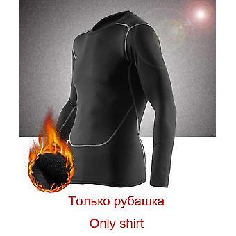 Zimné termálne spodné prádlo Nohavice + oblečenie, Muži Rýchlo suché, Teplé dlhé Johns Set,