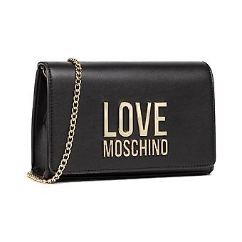 Woman Bag Love Moschino Shoulder Strap In Black Faux Leather Bs21mo93 Jc4127