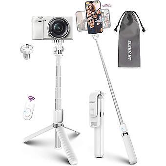 Selfie Stick Stativ, HanFei Selfiestick mit Bluetooth Fernbedienung Aluminium Selfie-Stange Selfie