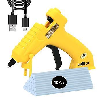3.6V wireless hot melt glue gun 8w usb rechargeable lithium battery cordless glue gun with 7mm glue sticks craft repair tool gun