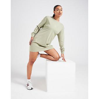 New Pink Soda Sport Essentials Long Sleeve T-Shirt Dress from JD Outlet Green