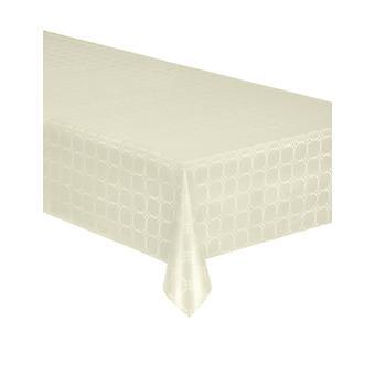 Ivoren damast papierrol tafelkleed 6 meter