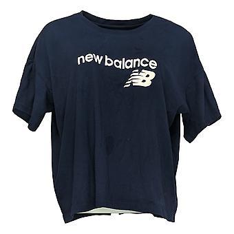 New Balance Dames's Top Short Sleeve Jersey Blauw A387043