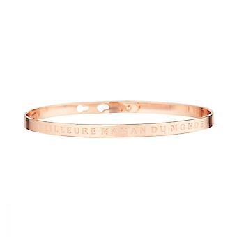 BEST WORLD MOM- pink message bracelet