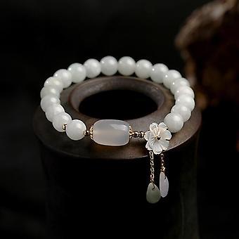 Natural Jade Emerald Agate Beads Bracelet