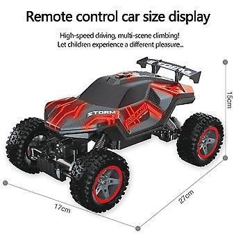 RC Voiture Grand véhicule tout-terrain à 4 roues motrices à grande vitesse Rc (RED)
