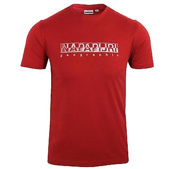 Napapijri sallar men's old red t-shirt