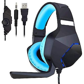 Gaming Headset with Mic for Xbox PS4 One PC, Gaming Headset with Noise Canceling Microphone for Nintendo Switch Phone Tablet Compute