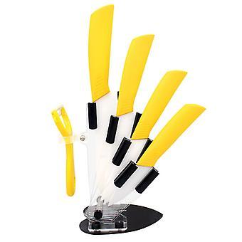 Juego de cuchillos de cocina Zirconia de cerámica de primera calidad con soporte Cuchillo cerámico 3 4 5 6 pulgadas Peeler para fruta de pan de carne