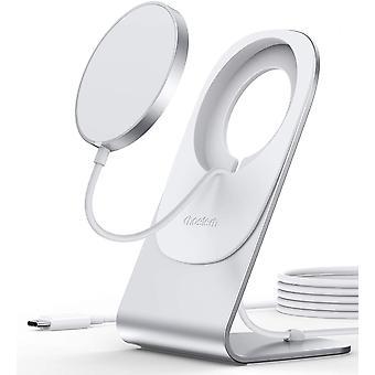 Magnetická bezdrôtová nabíjačka, indukčná nabíjačka pre iPhone kompatibilná s mag-safe nabíjačkou s 1,5 M USB C káblom, držiak rýchlej bezdrôtovej nabíjačky pre iPhone 12 / 12Pro / 12 Pro Max / Mini (biela)