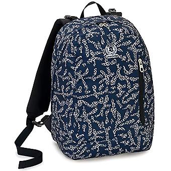 Backpack 2in1 Reversible Invicta Twist Eco-Material, Blue, 26 Lt, Fantasy + Solid Color, School & Leisure