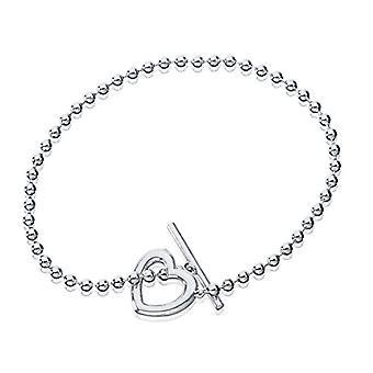 Eye Candy Women's Bracelet, sterling silver 925 rhodium-gnawed heart 18.5 cm ECJ-br0119