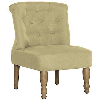 vidaXL francuskie krzesło zielona tkanina
