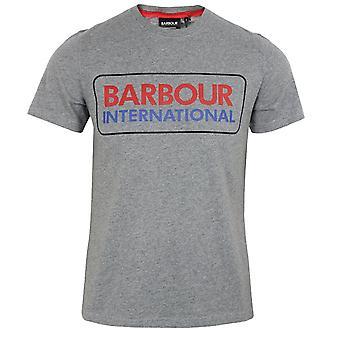 Barbour international men's anthracite marl event logo t-shirt
