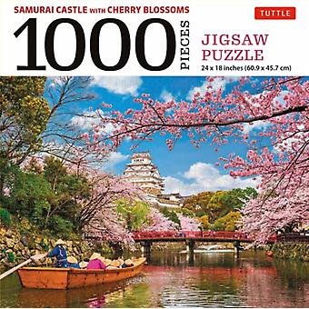 Samurai Castle  Cherry Blossoms 1000 Piece Jigsaw Puzzle by Edited by Tuttle Publishing