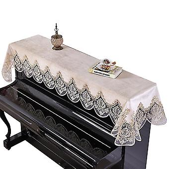 Piano Cover European-style Dust Cover  Towel Lace Nordic Style(Beige)
