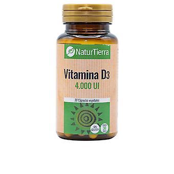 Naturtierra Vitamina D3 30 Caps Vegetales Unisex