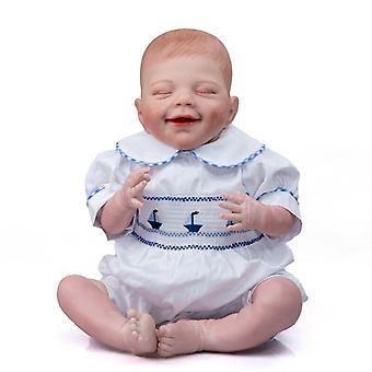 53Cm genfødt baby dukke april sovende naturtro størrelse blød krop fleksibel hånd-tegning hår 3d hudfarve med vener nyfødte
