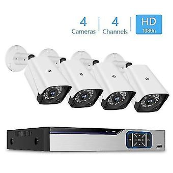 1080n Pro HD + 4CH Video Security Digital Recorder + 4pcs Analog Security Cameras (HDD Not Included)