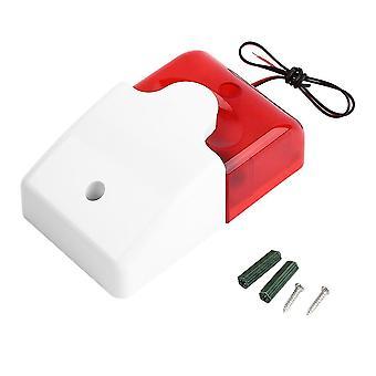 Odolný 12v kabelový zvukový alarm Strobe Blikající lehká siréna Domácí zabezpečení