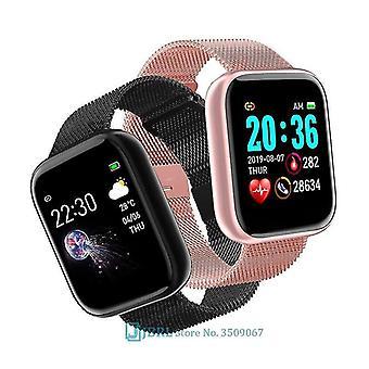 למעלה יוקרה דיגיטלית אלקטרונית הוביל ספורט פרק כף היד שעון / גברים (I5S סיליקון שחור)