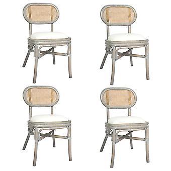 vidaXL dining chairs 4 pcs. grey linen cover