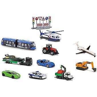 212058590 – Set mit 10 Fahrzeugen mit Verkehrszeichen