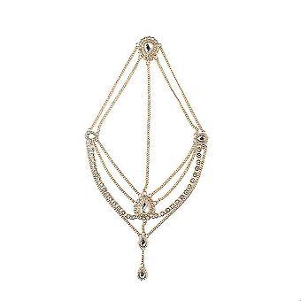 Diamond Yoga Headwear Drops Precious Stones Tassel Headdress