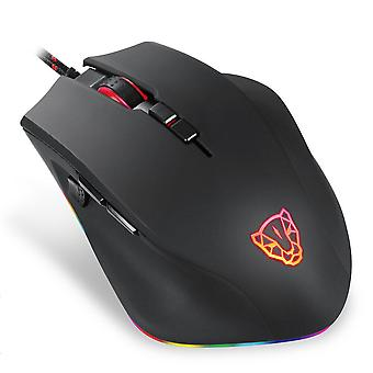 V80 5000DPI Optical RGB Backlight USB Wired Gaming Mouse PMW3325 Ergonomic Gamer Mice for PC Laptop