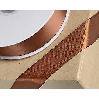 25m marrón 6mm cinta de satén ancho para artesanías