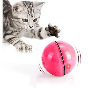 Interactive Cat Toy Ball With Led Light 360 Degree Self-spinning Ball(Red)