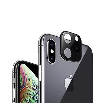 6Pcs تحويل تغيير iPhone X إلى iphone 11 برو تغيير المعادن كاميرا الهاتف عدسة حامي لفون