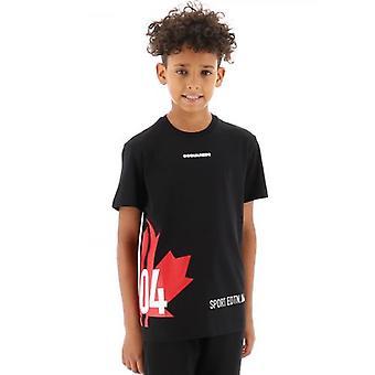 DSQUARED2 Kids Musta Edtn 04 Lippu T-paita