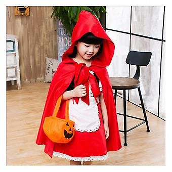 Children's Red Halloween Hat Witch Cosplay Costume Fancy Dress Party Anime Costume