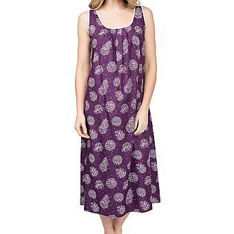 Cyberjammies Margo 4975 Women's Purple Pinecone Cotton Nightdress