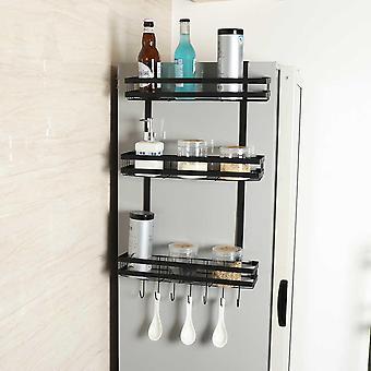 Kitchen Space Saver Fridge Side Wall Storage Hanging Holder Multifunction Refrigerator Storage Rack