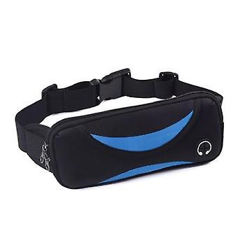 Bolsa de cintura ajustable / cinturón de correr neopreno Negro / Azul