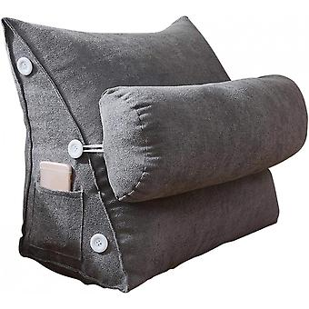 Reading Pillow Bed Wedge Large Adult Backrest Cushion With Pockets