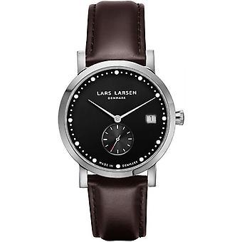 LLarsen (Lars Larsen Brown Genuine Leather) 137SB-BLLS18 Women's Watch