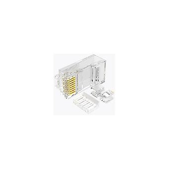 Power adapter charger accessories 100pcs rj45 cable head plug gold-plated cat 6 crimp comwork lan cable plugs comwork connector