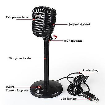 Microphones computer microphone can rotate usb microphone drive free voice chat device video conference