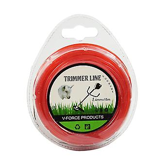 1 Piece Of 3.0 Mm * 15 M Lawnmower Cord (red)