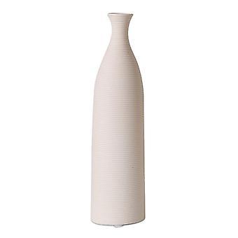 nordisk stil keramisk vase dekorasjon bord vertikal vase beige l