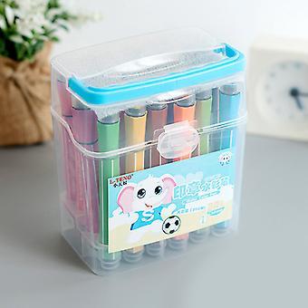 洗濯可能な子供のスタンプ水彩ペンマーカー24色学生塗装ペンボックス
