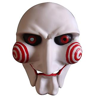 The Puppet Mask, Resin Horror Clown Saw Mask, Halloween Party Costume