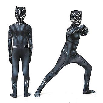 キッズ少年ブラックパンサーコスチュームスーパーヒーローコスプレパーティードレスギフト